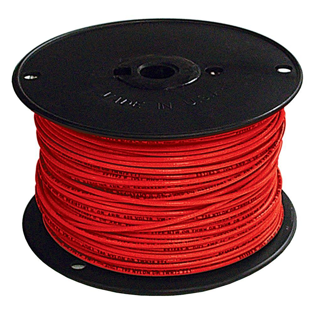 1000 ft. 6 Red Stranded CU SIMpull THHN Wire