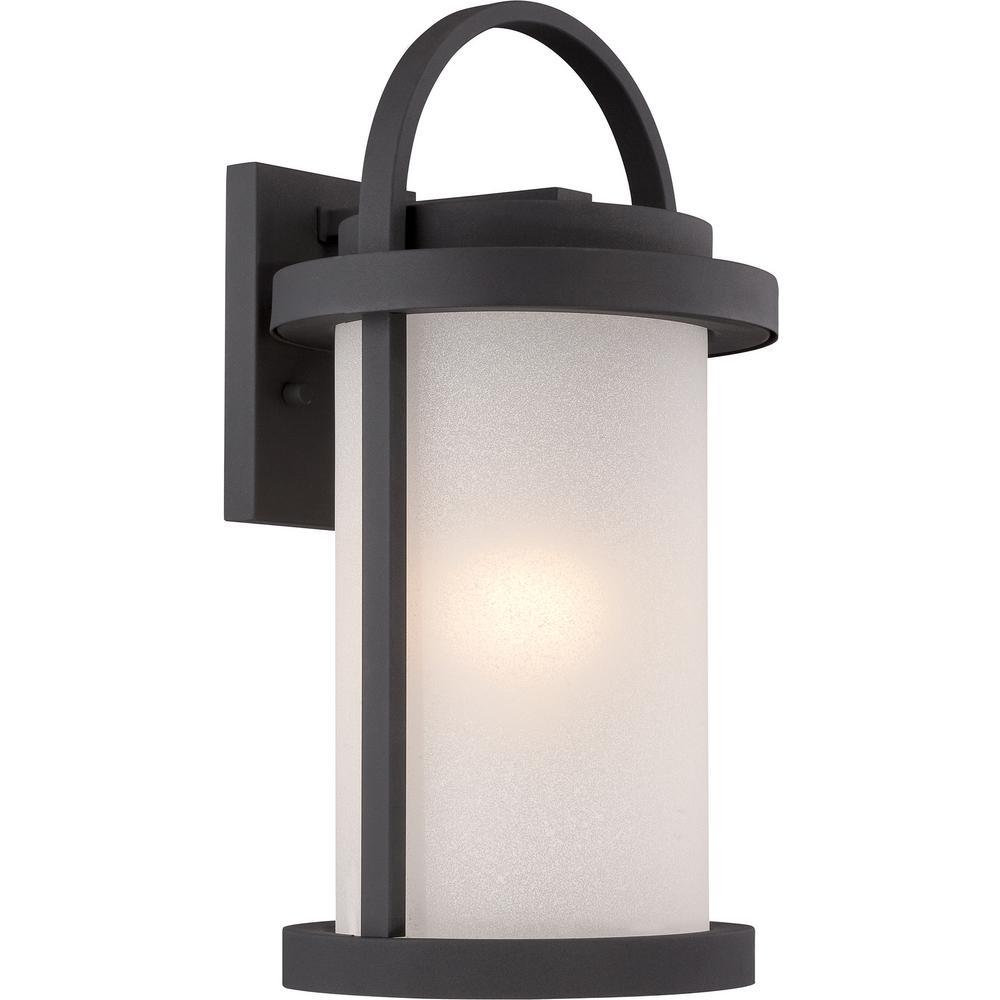 Filament Design 1-Light Textured Black Outdoor Integrated