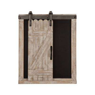 "19.75"" H Farmhouse Wooden Chalkboard Barn Door Memo Board Wall Decor"