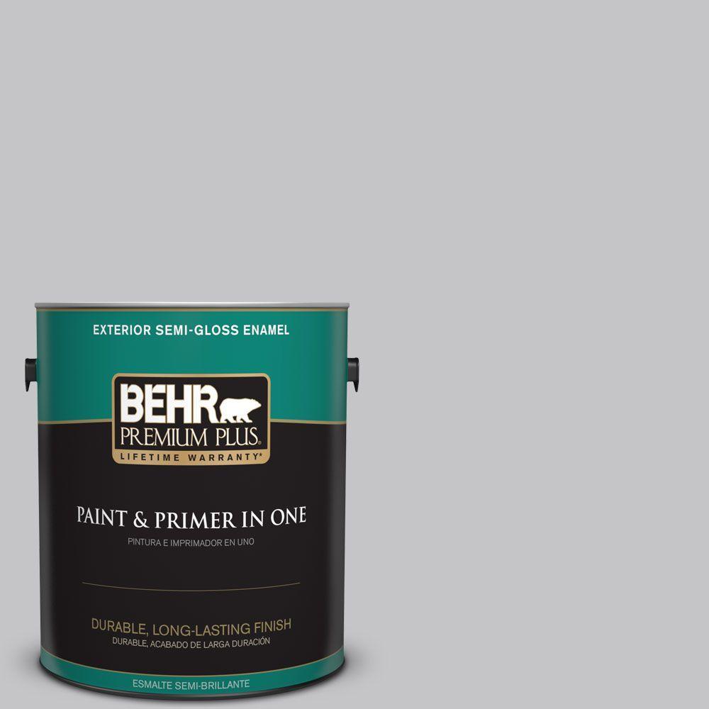 1-gal. #T15-6 Dreamscape Gray Semi-Gloss Enamel Exterior Paint