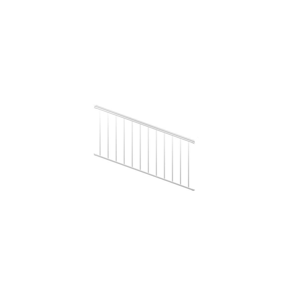 8 ft. White Fine Textured Aluminum Stair Rail Kit (1-Qty)