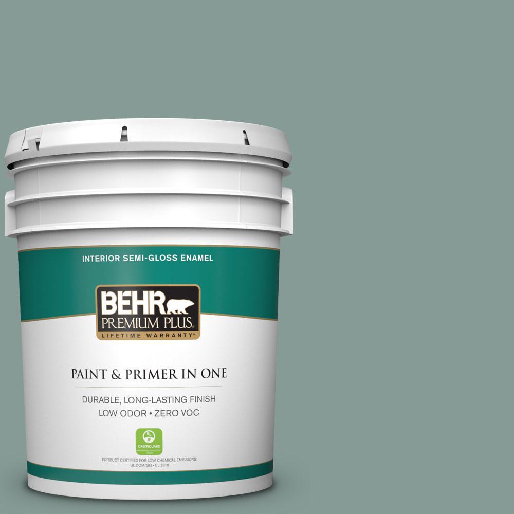 BEHR Premium Plus 5-gal. #N430-4 Rainy Afternoon Semi-Gloss Enamel Interior Paint