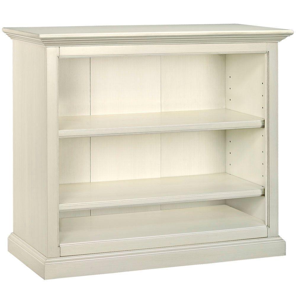 Martha Stewart Living 41.5 in. W Almond 3-Shelf Double Bookshelf