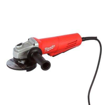 11 Amp Corded 4-1/2 in. Angle Grinder with Paddle and Lock-On Swith
