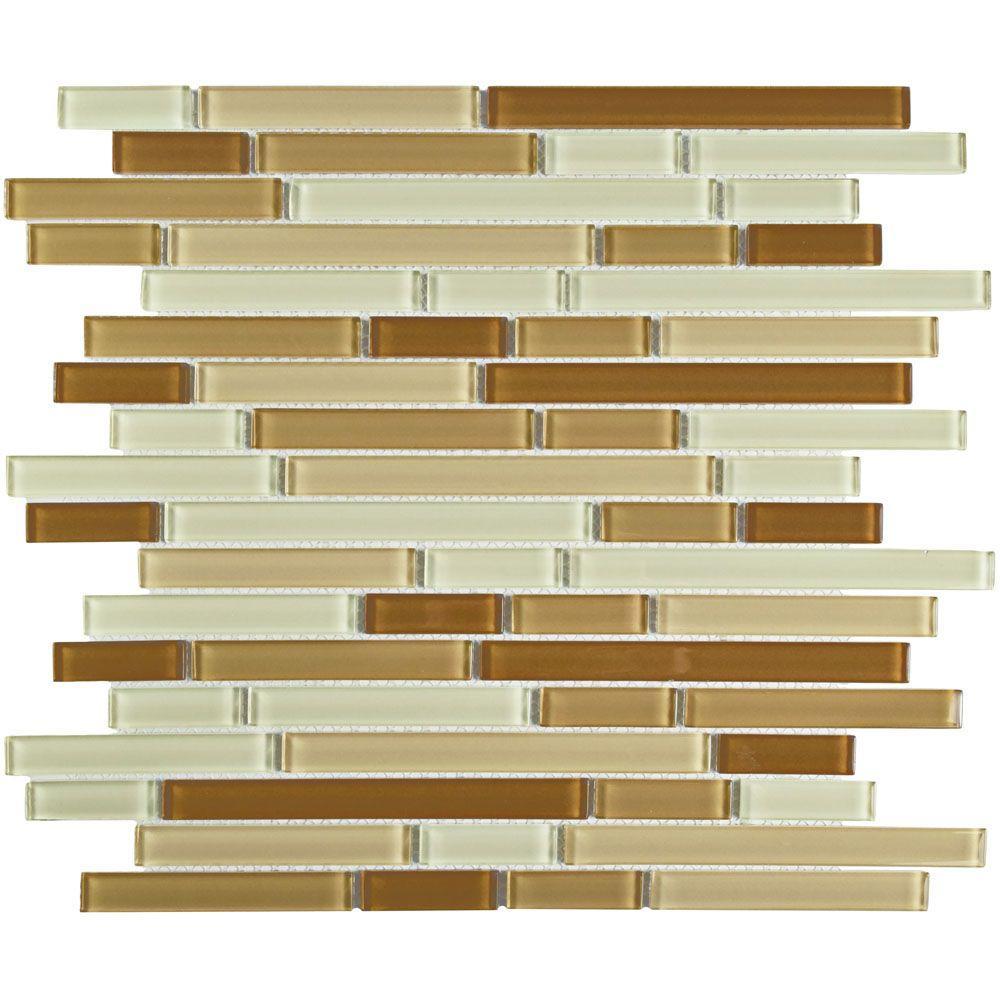 Merola Tile Spectrum Piano Dakar 11-3/4 in. x 11-3/4 in. x 4 mm Glass Mosaic Tile