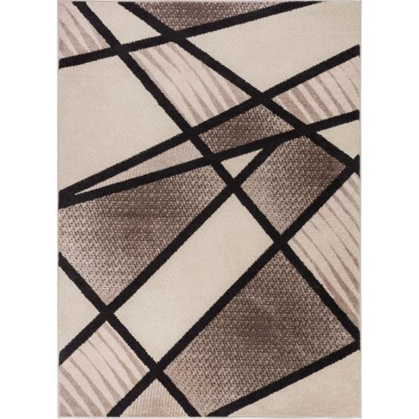 Brown 8 Ft X 10 Bold Shapes Lines