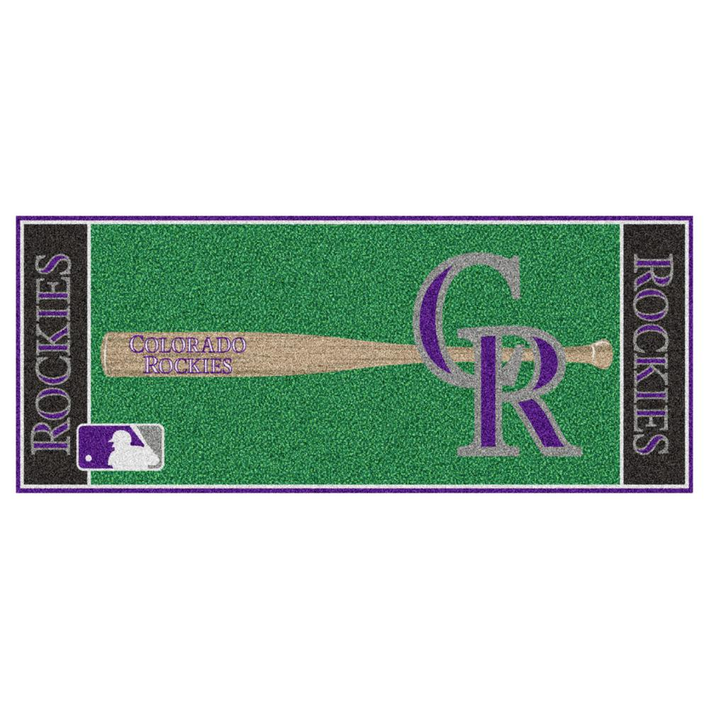 FANMATS Colorado Rockies 3 ft. x 6 ft. Baseball Runner Rug ...