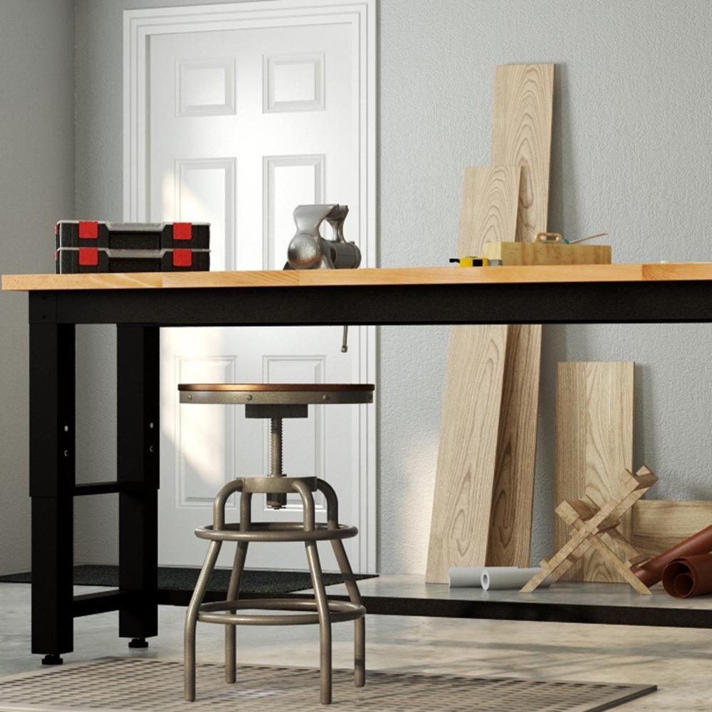 Home Decorators Collection - Industrial Mansard Adjustable Height Black Bar Stool