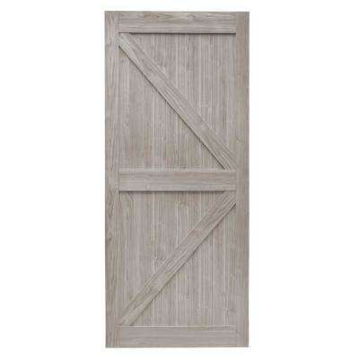 36 in. x 84 in. Grey MDF K Frame Interior Barn Door Slab