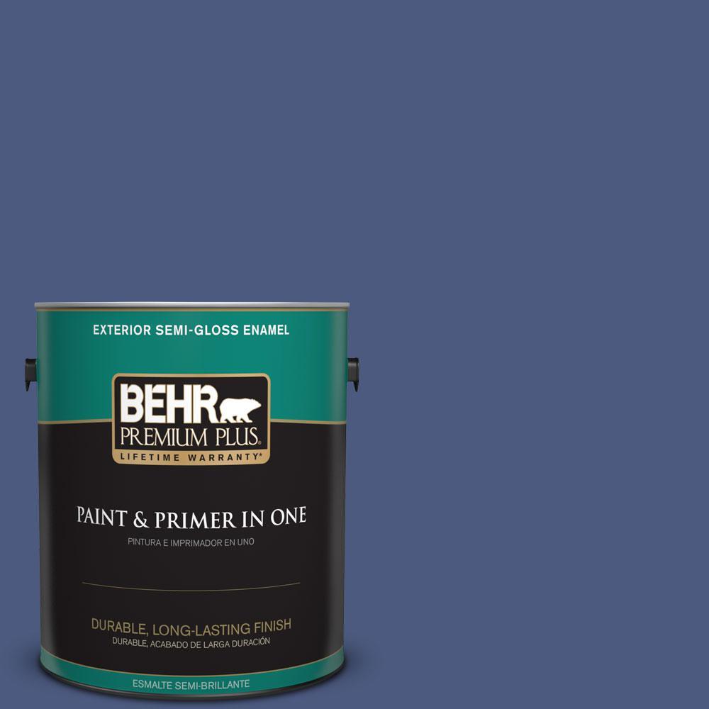 1-gal. #BIC-37 Dark Iris Semi-Gloss Enamel Exterior Paint