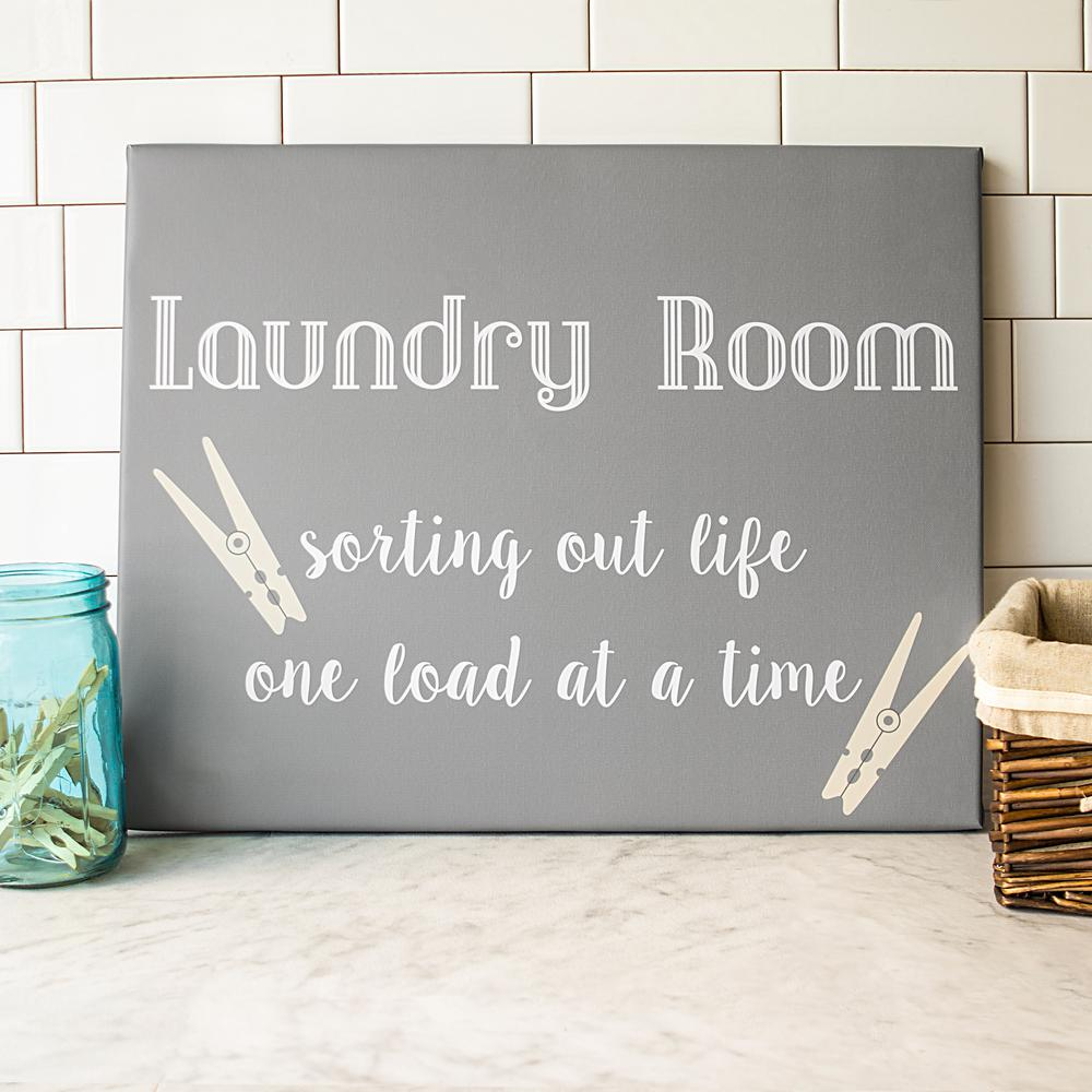 laundry room wall art 16 in. x 20 in.