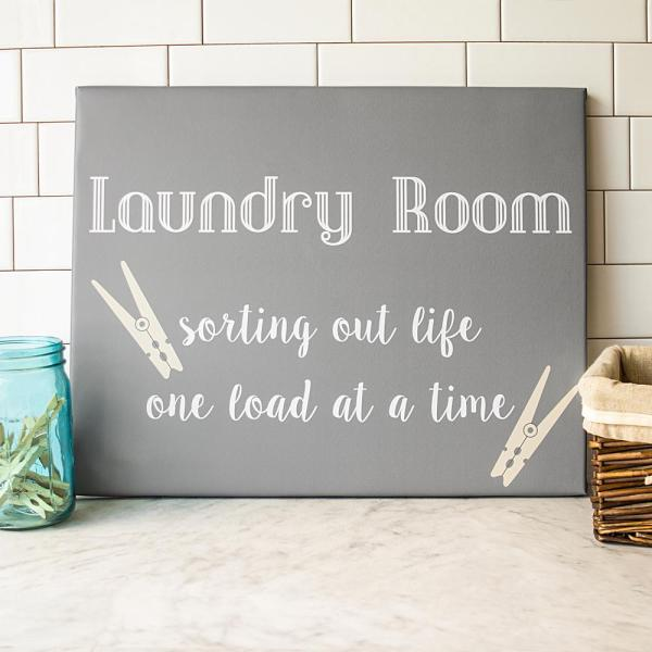 Laundry Room Canvas Wall Art