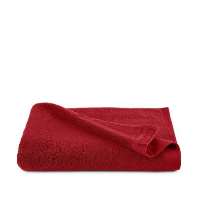 Classic Pompei Red Solid Egyptian Cotton Single Bath Sheet