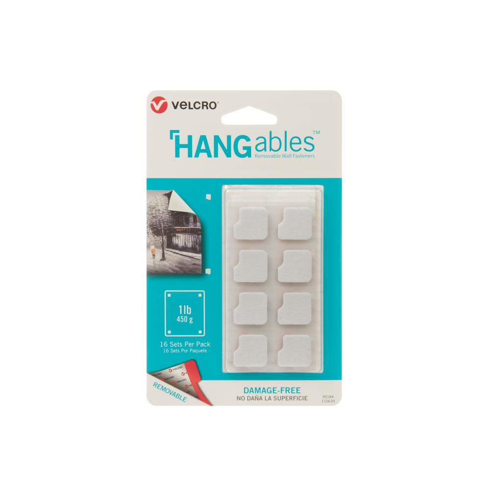 VELCRO Brand HANGables Removable Wall Fasteners 3/4 in. Squares (16-Count)
