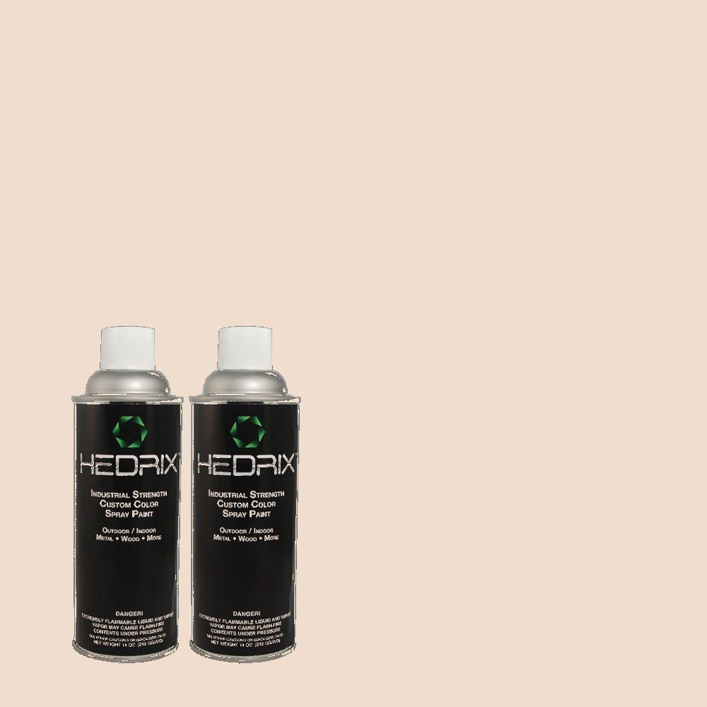 Hedrix 11 oz. Match of 3B22-1 Quiet Hush Low Lustre Custom Spray Paint (2-Pack)