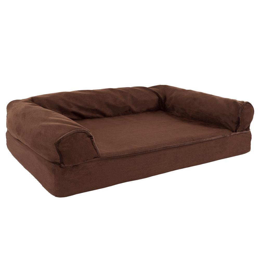 Small Brown Memory Foam Orthopedic Pet Bed
