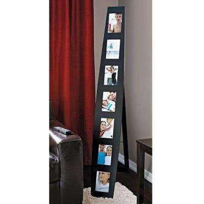 nexxt Summit 7-Opening 5 in. x 7 in. Black Floor Standing or Wall Collage Picture Frame