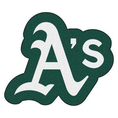 MLB - Oakland Athletics 35 in. x 30 in. Indoor Area Rug Mascot Mat