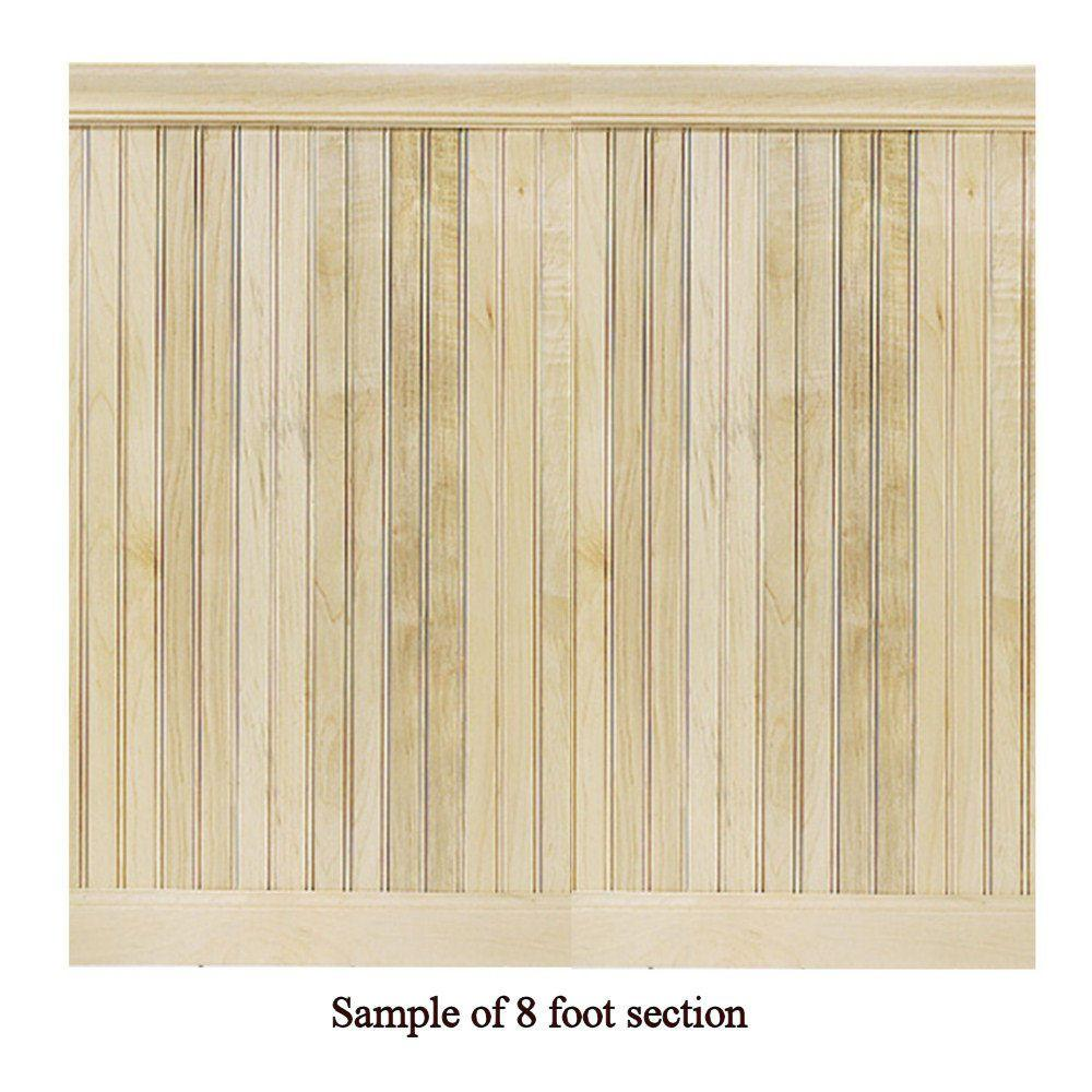 House of Fara 8 Linear ft. Maple Tongue and Groove Wainscot Paneling-DISCONTINUED