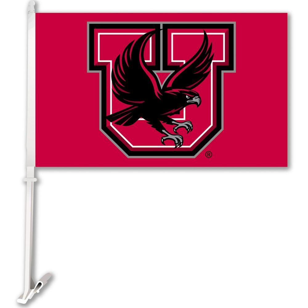 NCAA 11 in. x 18 in. Utah 2-Sided Car Flag with