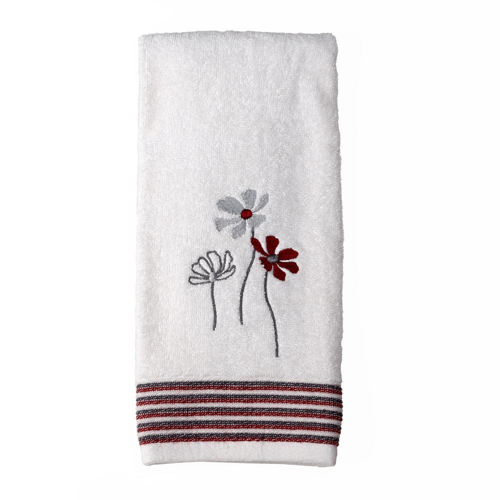 Evan White Stripe Cotton Single Hand Towel