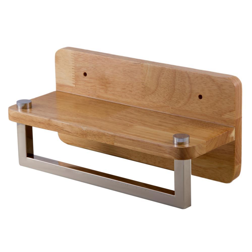 wood towel bar. Wall Mount Towel Bar In Wood
