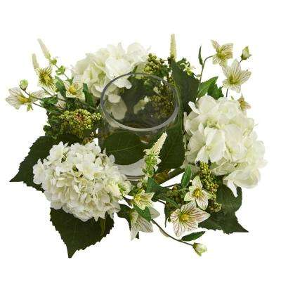 Hydrangea Artificial Arrangement Candelabrum