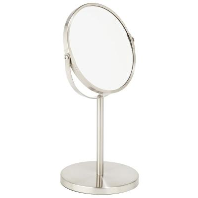 7 in. Dual Sided 5X Magnification Vanity Mirror in Satin