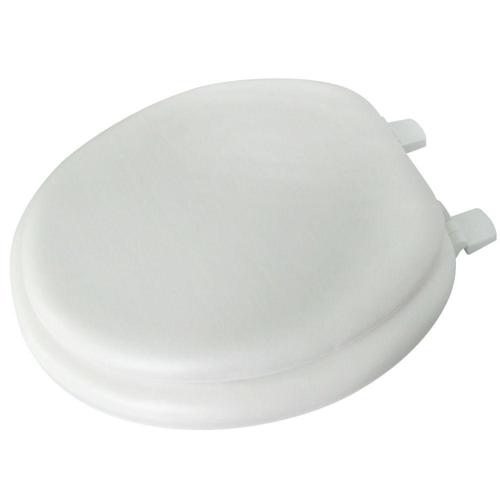 Glacier Bay Round Closed Front Toilet Seat in White-53015