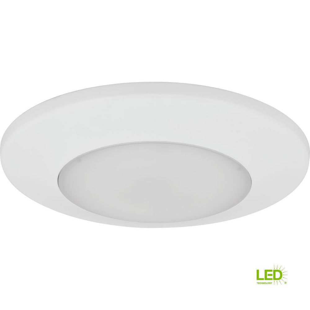 Led Flush Mount Collection White Integrated