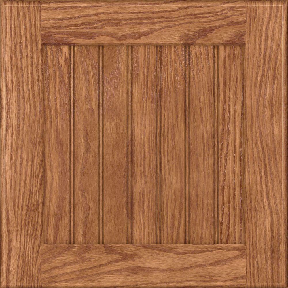 KraftMaid 15x15 in. Cabinet Door Sample in Wilmington Oak in Fawn ...