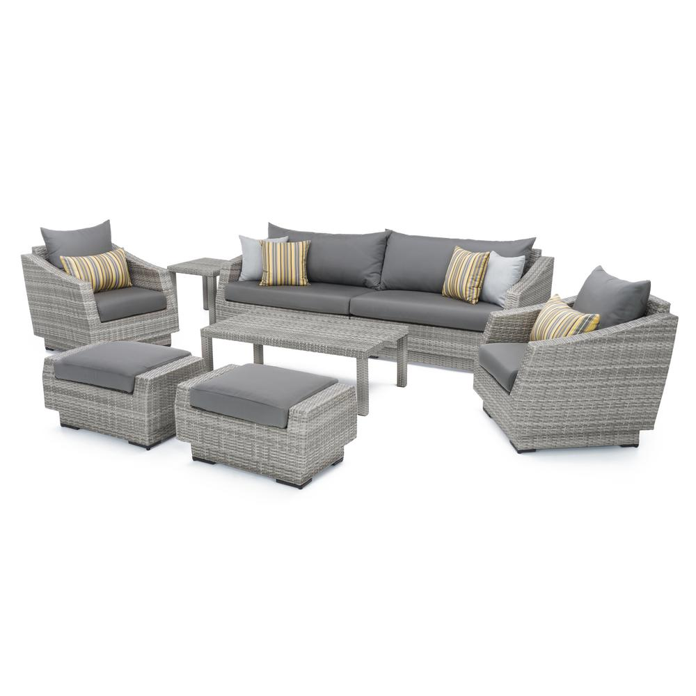 This Review Is From:Cannes 8 Piece All Weather Wicker Patio Sofa And Club  Chair Seating Group With Sunbrella Charcoal Grey Cushions