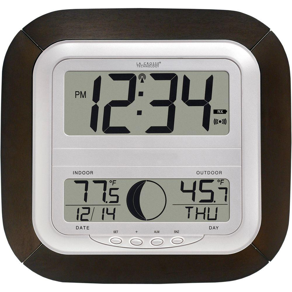 La Crosse Technology Digital Wireless Atomic Clock With Moon Phase