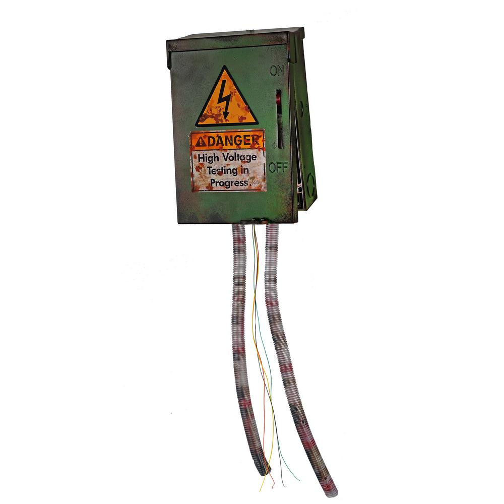 28 in. High Voltage Junction Box With Electrified Cables