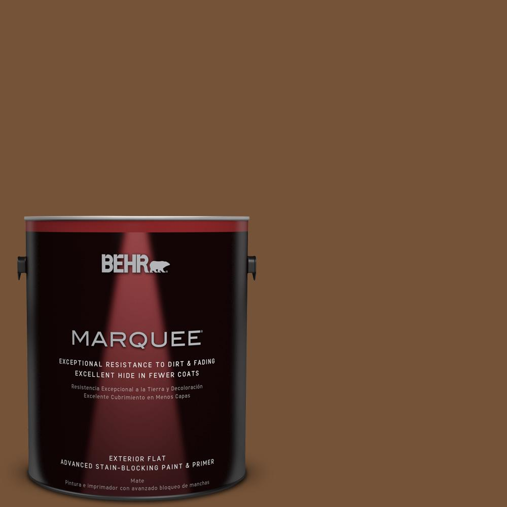 BEHR MARQUEE 1-gal. #290F-7 Wooden Cabin Flat Exterior Paint