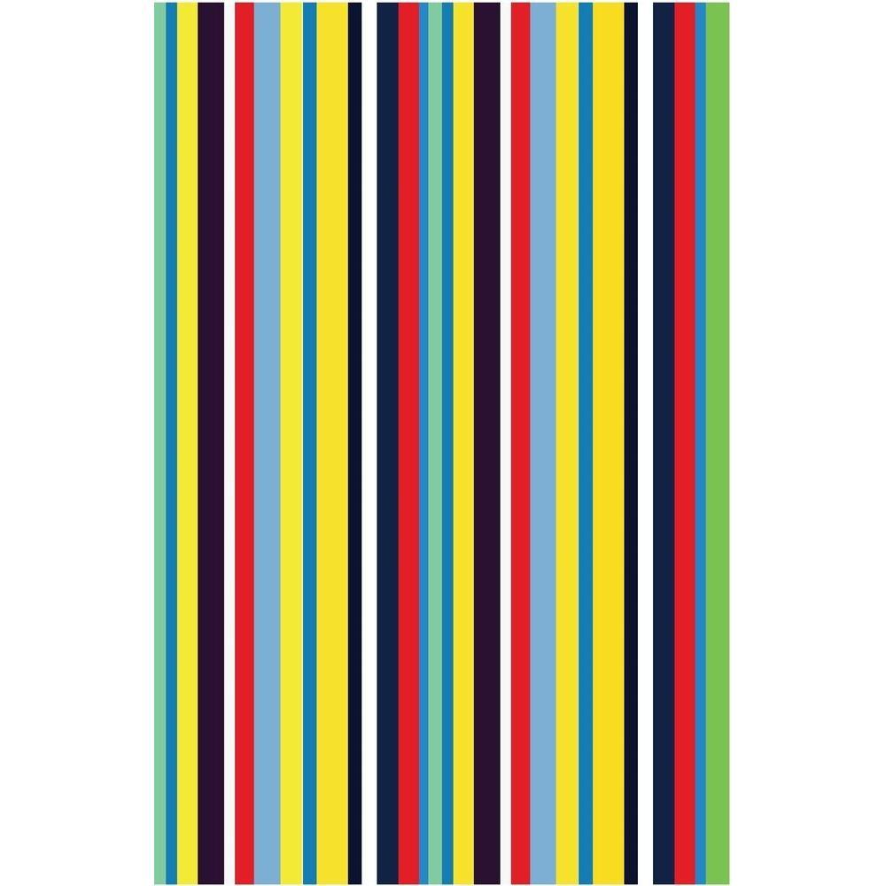 La Rug Fun Time Stripemania Multi Colored 19 In X 29 In