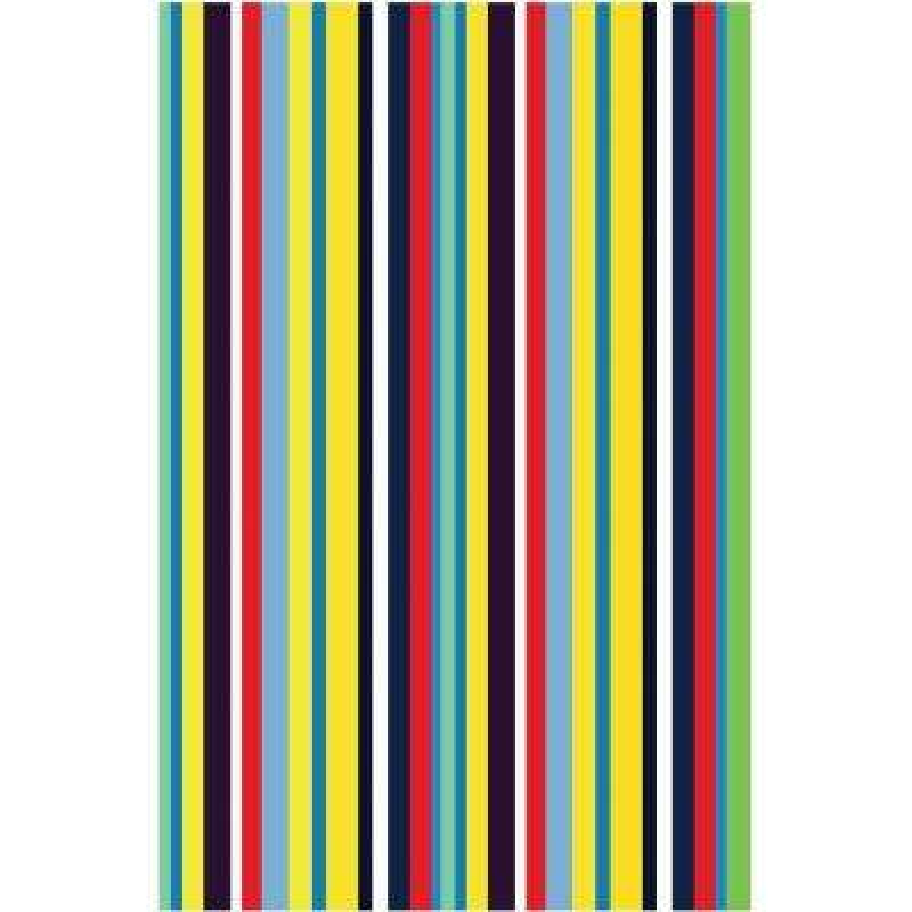 Fun Time Stripemania Multi Colored 39 in. x 58 in. Area Rug