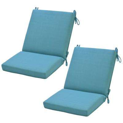Seaglass Outdoor Dining Chair Cushion (2-Pack)