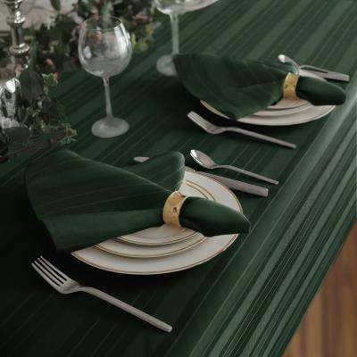 17 in. W x 17 in. L Elrene Denley Stripe Damask Hunter Fabric Napkins (Set of 4)