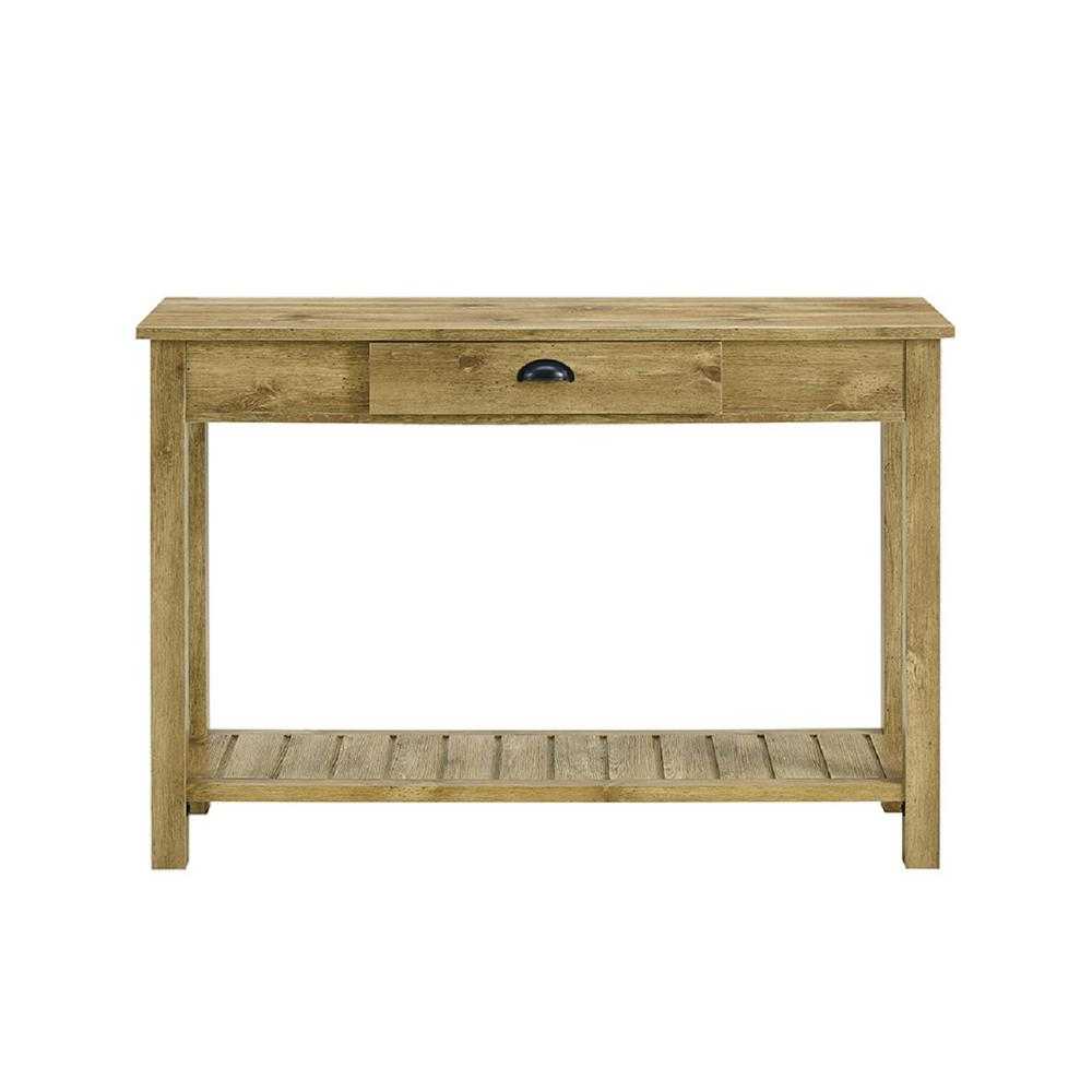 Walker Edison Furniture Company 48 In. Country Style Entry Console Table In  Barnwood