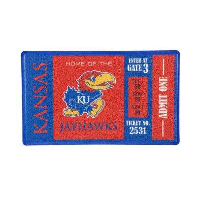 University of Kansas 30 in. x 18 in. Vinyl Indoor/Outdoor Turf Floor Mat