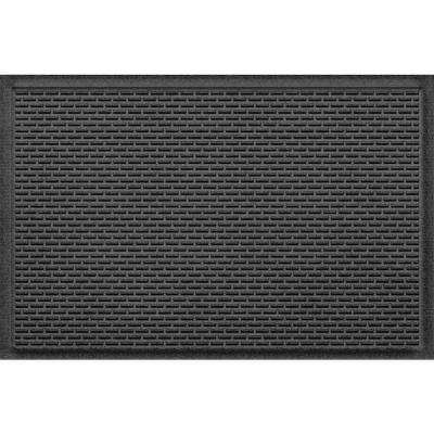 Stitch Charcoal 24 in. x 36 in. Polypropylene Door Mat