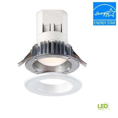 Easy Up 4 in. Cool White LED Recessed Light with 93 CRI, 3500K J-Box (No Can Needed)