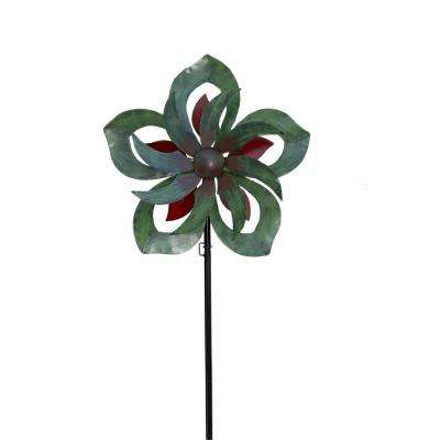 Blossom 23 in. x 84 in. Steel Kinetic Decorative Wind Art Spinner