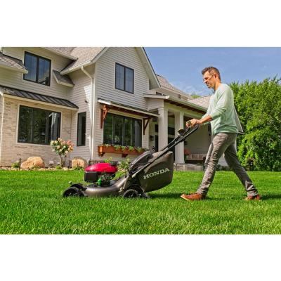 21 in. 3-in-1 Variable Speed Gas Walk Behind Self Propelled Lawn Mower with Blade Stop