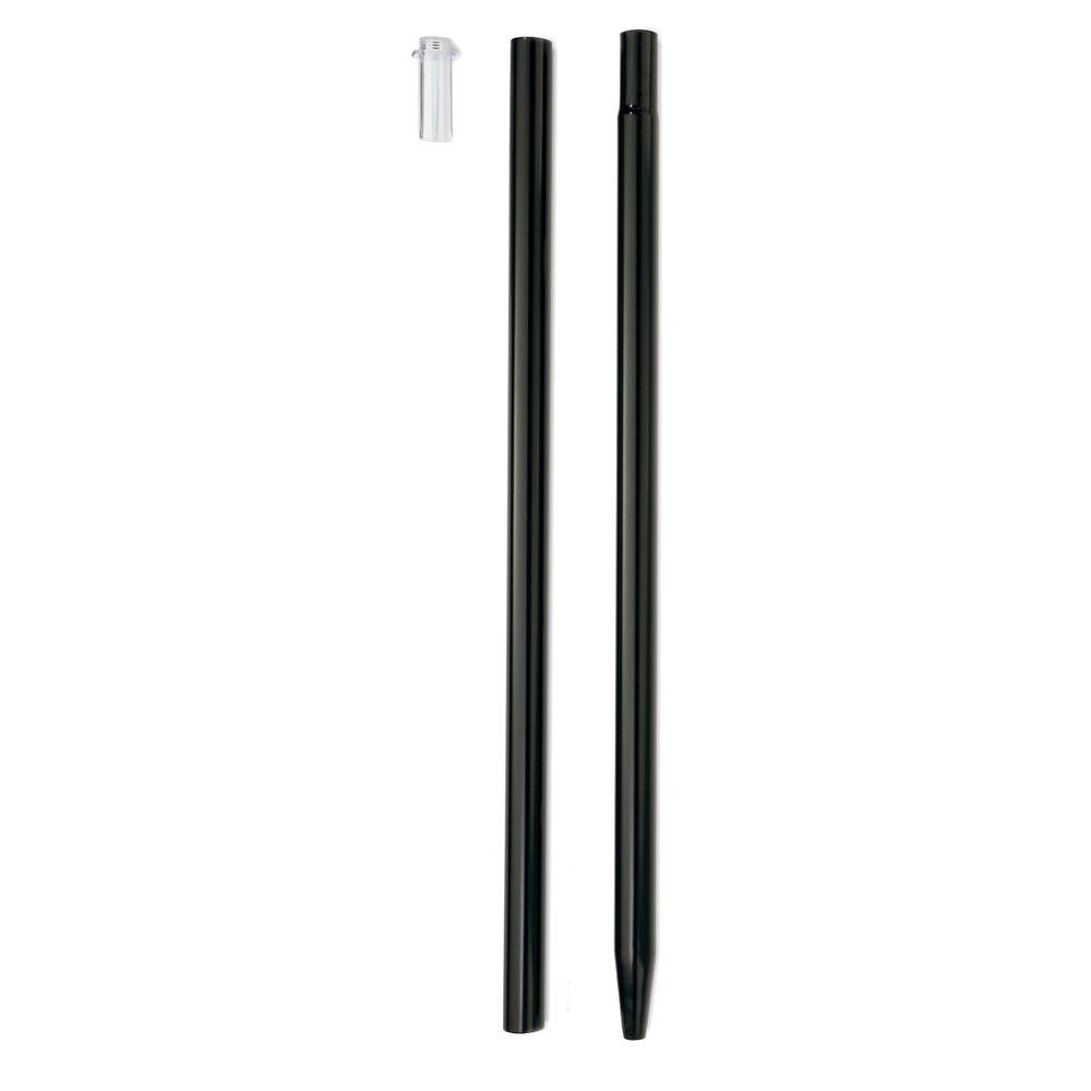 46 in. Metal Flower Garden Pole System