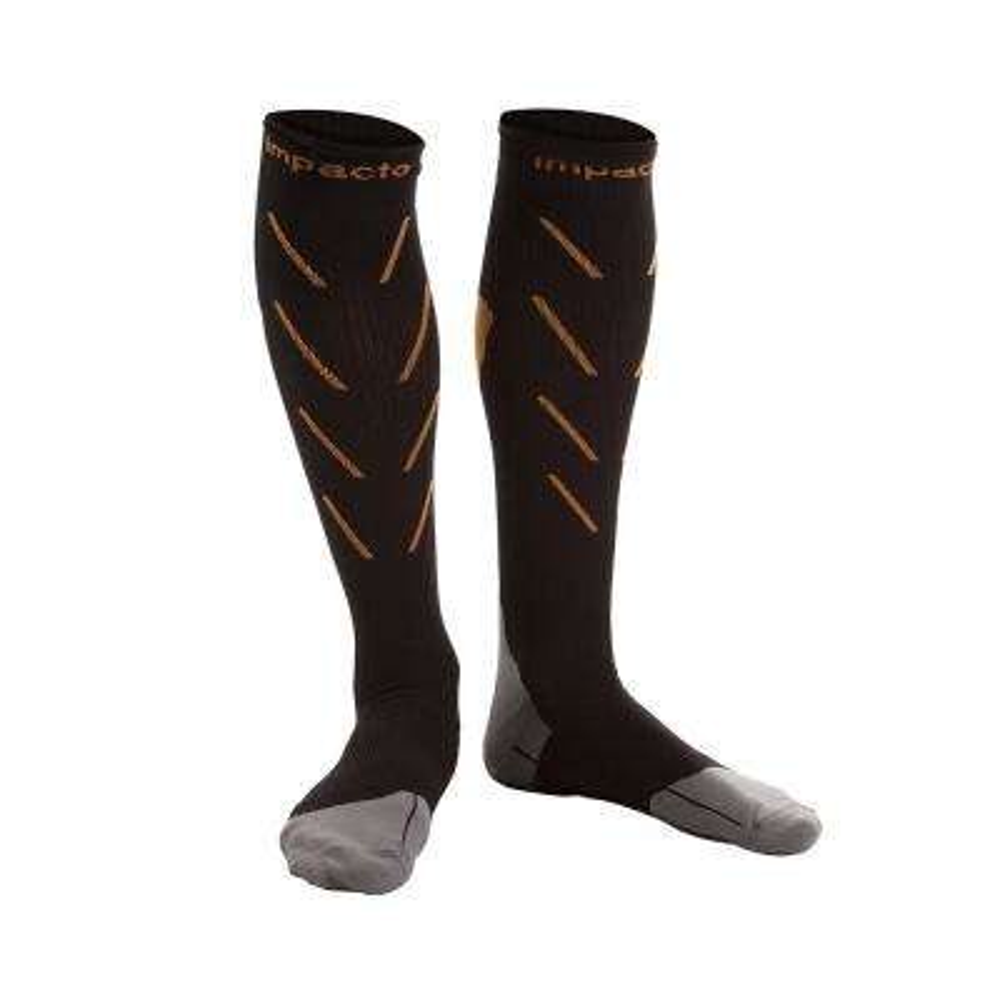 Impacto Men 7.5-10 Black Industrial Compression Energy Socks (Pair)