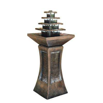 39 in. LED Pyramid Tiered Indoor/Outdoor Fountain