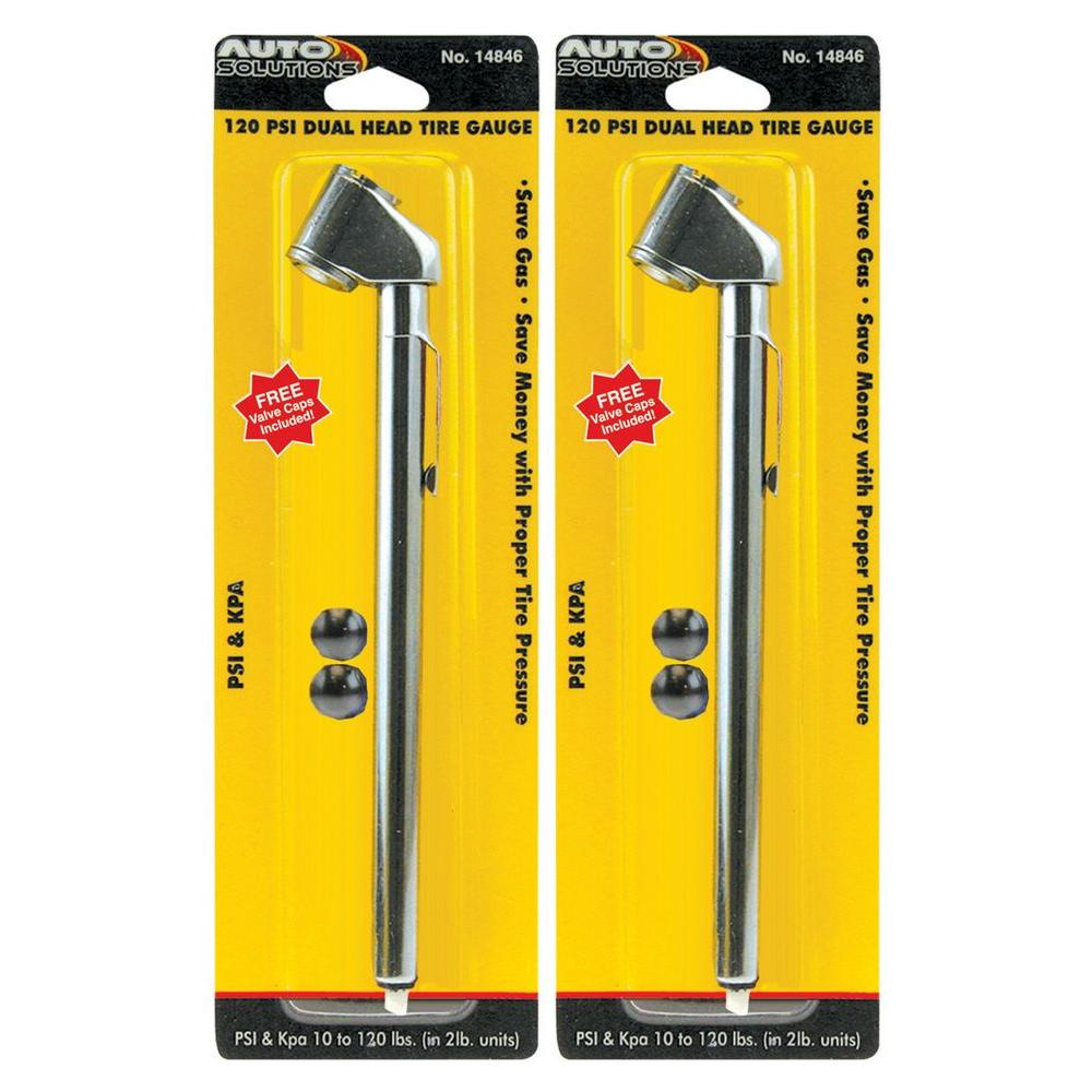 120 psi Dual Head Tire Gauge (2-Pack)