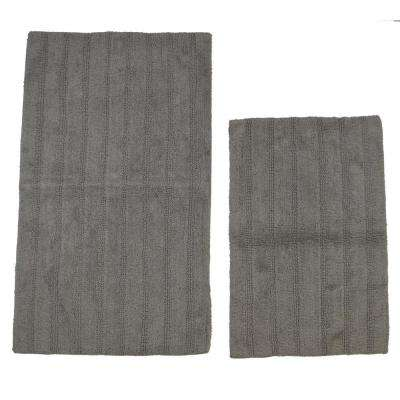 21 in. x 34 in. and 24 in. x 40 in. Linear Reversible Reversible Bath Rug Set (2-Piece)